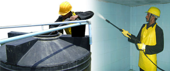 watertank cleaning